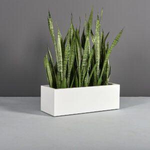 Rectangle Planter GREENNEST TOOLBOX – 1 white box planter